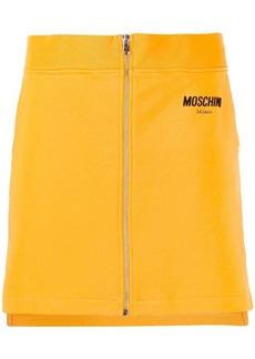 Moschino zip front mini skirt