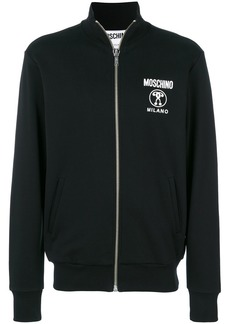 Moschino zip front sweatshirt
