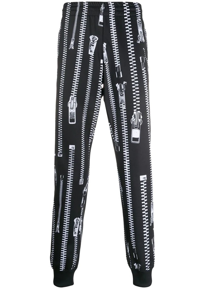 Moschino zip-print track pants