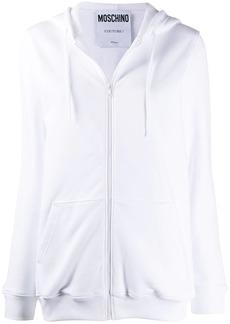Moschino zip-up logo-print hoodie