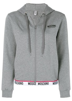 Moschino zipped logo-trim sweatshirt