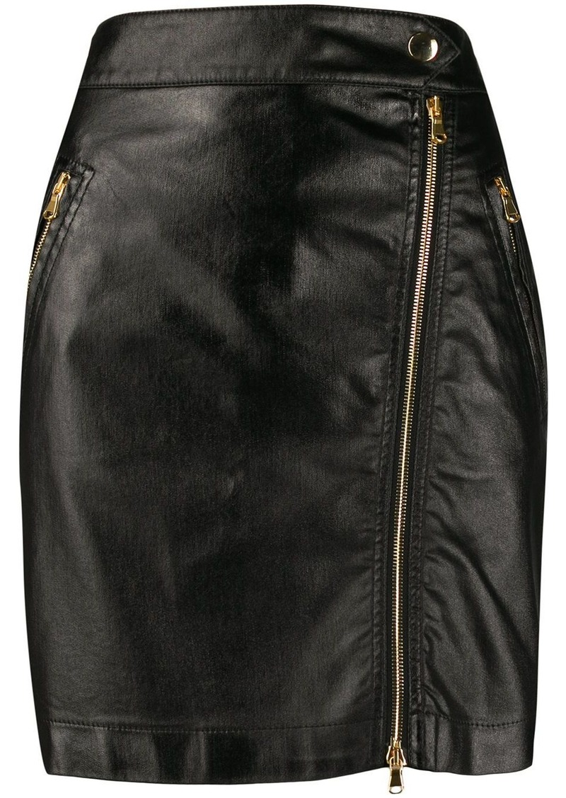 Moschino zipped short skirt