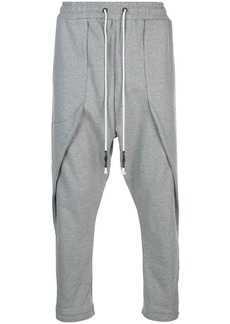 Mostly Heard Rarely Seen drop crotch track pants