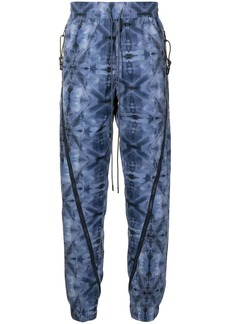 Mostly Heard Rarely Seen Kaleidoscope zipped jogging trousers