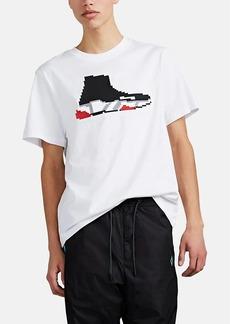 Mostly Heard Rarely Seen 8-Bit Men's Speed Runner Sneaker-Graphic Cotton T-Shirt