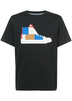 Mostly Heard Rarely Seen patchwork sneaker T-shirt