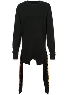 Mostly Heard Rarely Seen asymmetric double layer sweatshirt