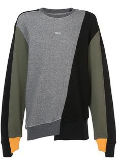 Mostly Heard Rarely Seen colour block sweatshirt