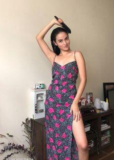 Motel Batis Animal Print Slip Maxi Dress