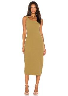 Motel Bridget Midi Dress in Olive. - size L (also in M,S,XS)