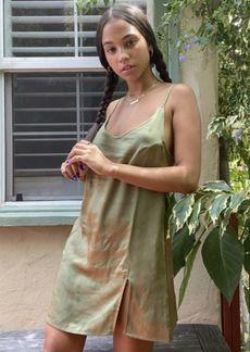 Motel Emilia Satin Mini Slip Dress