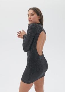 Motel Guedra Sequin Open-Back Mini Dress