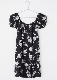 Motel Lonma Satin Puff Sleeve Mini Dress