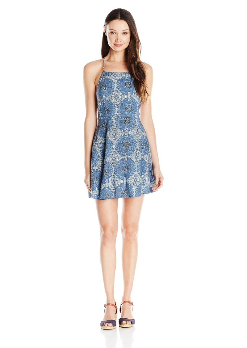 Motel Rocks Women's Mahogani Print Open Back Dress