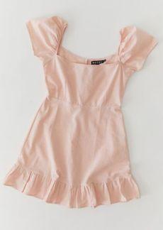 Motel Syami Cotton Ruffle Mini Dress