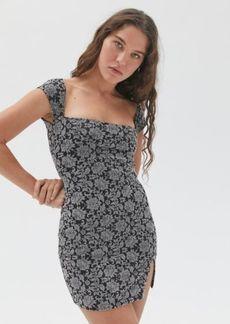 Motel Verga Flocked Velvet Mini Dress