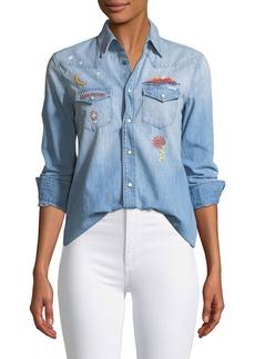 Mother Denim All My Exes Button-Down Denim Shirt