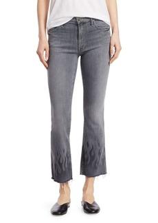 Mother Denim Ankle Fray Flared Jeans
