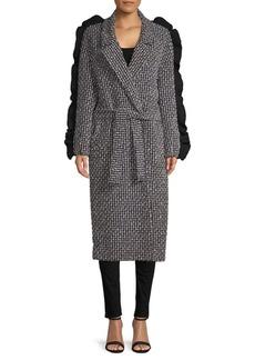 Mother Denim Bexley Textured Wrap Coat