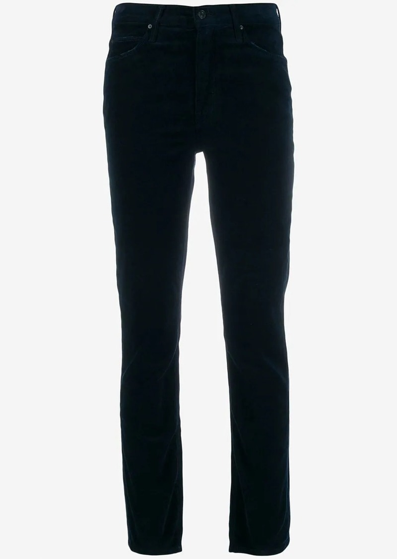 Mother Denim corduroy slim-fit trousers