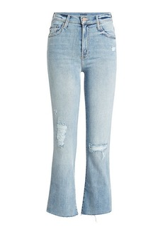 Mother Denim Cropped Distressed Jeans