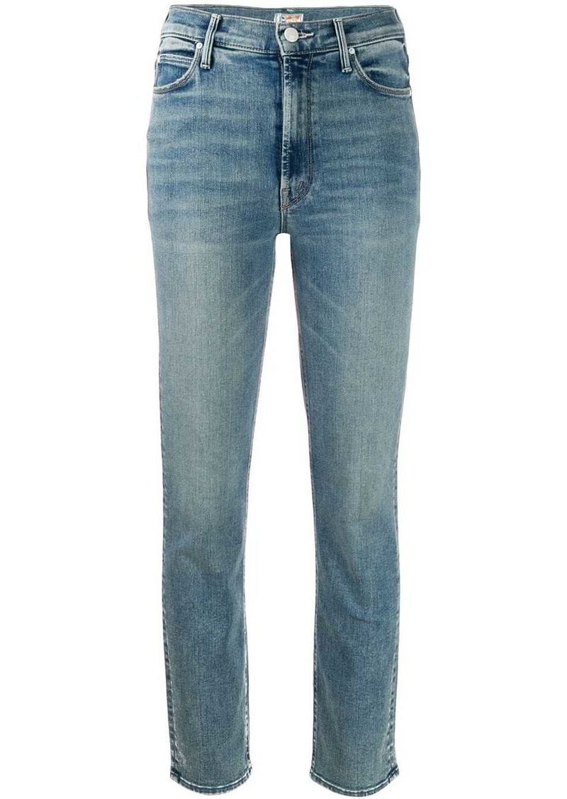 Mother Denim cropped skinny jeans