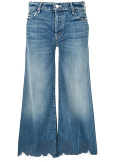 Mother Denim cropped wide-leg jeans