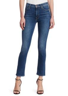 Mother Denim Dazzler Mid-Rise Ankle Straight-Leg Jeans