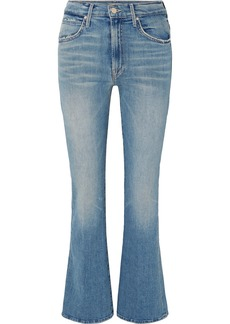Mother Denim Desperado Distressed High-rise Flared Jeans