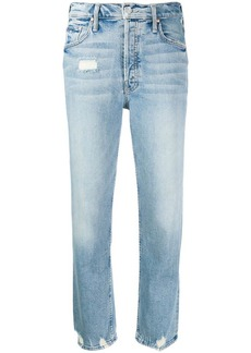 Mother Denim distressed cropped jeans