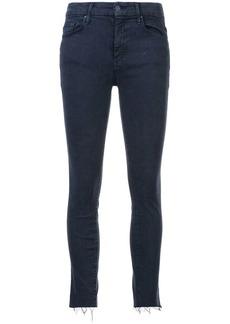 Mother Denim distressed detail skinny jeans