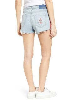 Mother Denim Easy Does It Cutoff Denim Shorts