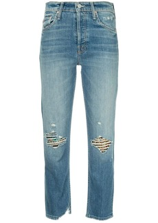 Mother Denim faded straight-leg jeans