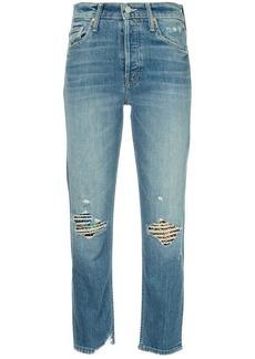 Mother Denim faded straight-leg jeans