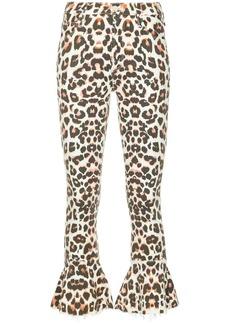 Mother Denim flared leopard print jeans