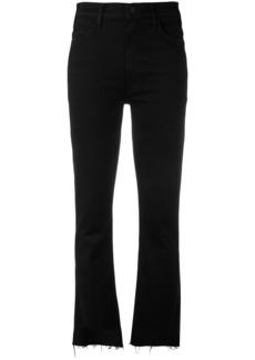 Mother Denim flared raw edge jeans