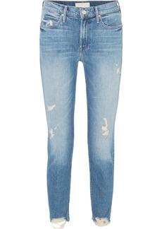 Mother Denim Flirt Fray Distressed Mid-rise Straight-leg Jeans