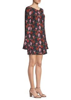 Mother Denim Floral Bell Sleeve Mini Dress