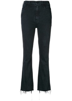 Mother Denim frayed bootcut cropped jeans