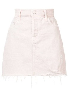 Mother Denim frayed denim skirt