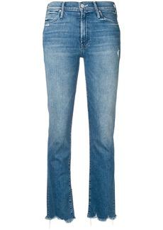 Mother Denim frayed hem cropped jeans