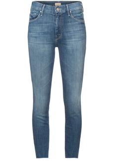 Mother Denim frayed skinny jeans
