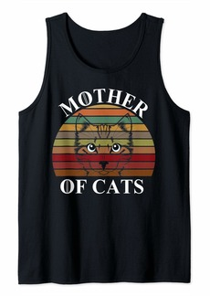 Mother Denim Funny Cat Lovers - Mother of Cats Hot - Mother's Day Gift Tank Top