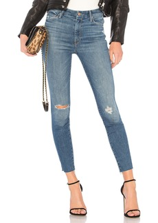 Mother Denim High Waisted Looker Ankle Fray Jean