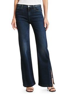 Mother Denim Hustler Super High-Rise Split Flare Jeans
