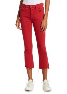 Mother Denim Insider Crop Step Fray Hem Jeans