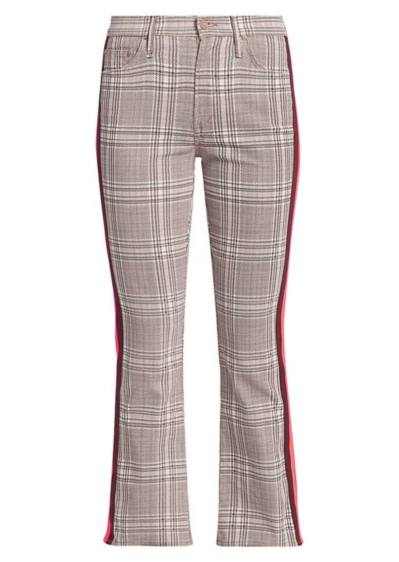 Insider Plaid Kick Flare Cropped Pants