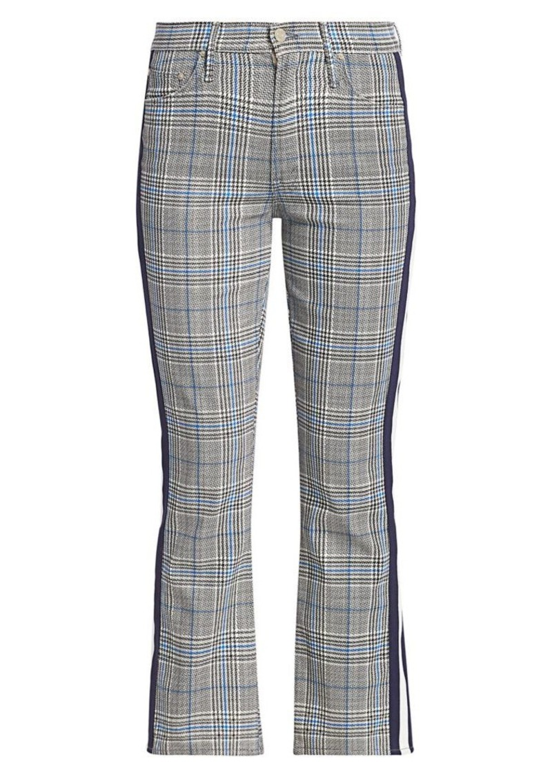 Mother Denim Insider Plaid Racing Stripes Trousers