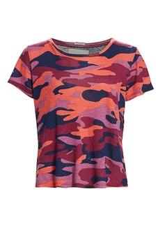 Mother Denim Itty Bitty Camo Cropped T-Shirt