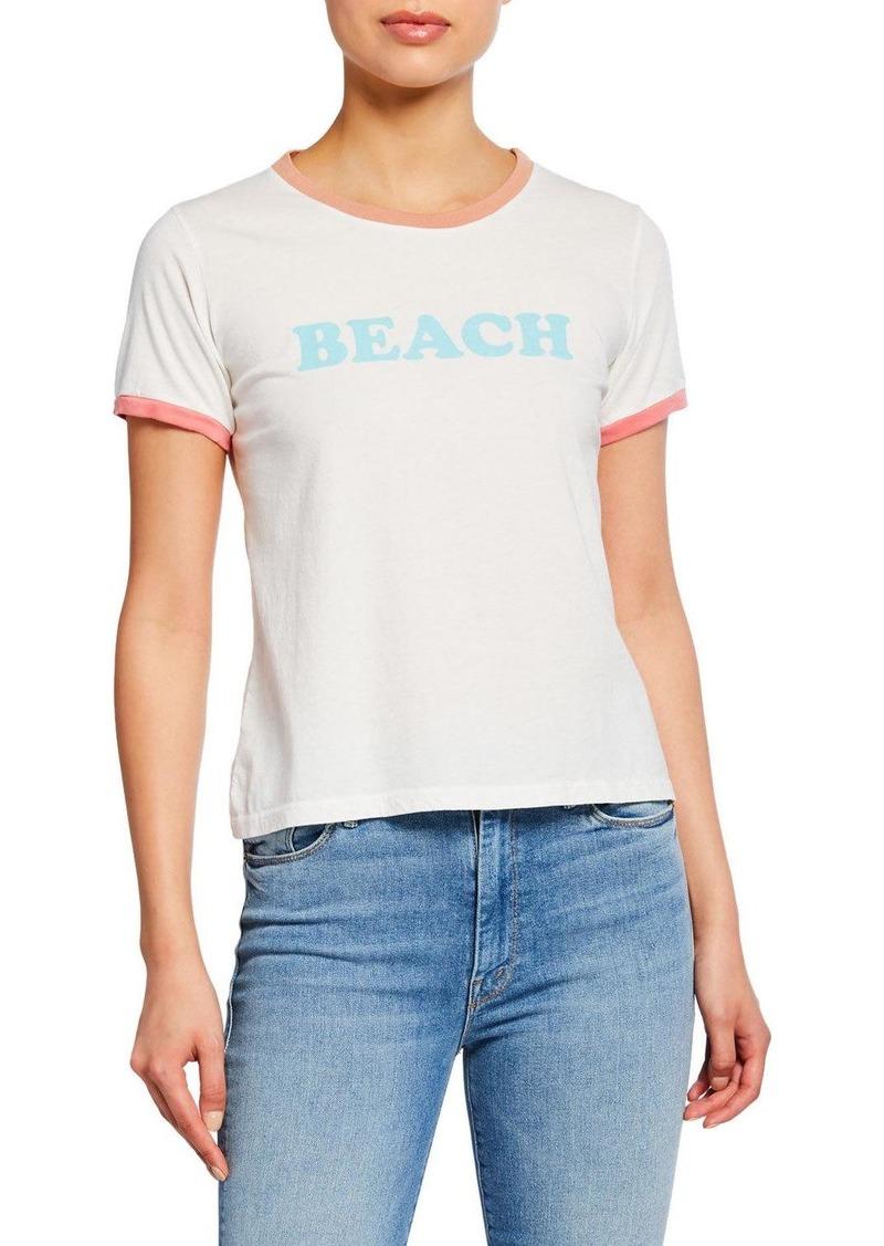 Mother Denim Itty Bitty Goodie Ringer Beach Tee